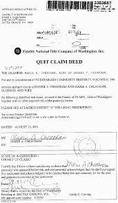 Quit Claim Deed Sample