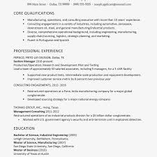 Manufacturing Operations And Consulting Executive Resume Example