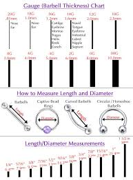 Size Chart For Nose Rings Measuring Body Jewelry Tattoos Piercings Ear Piercings