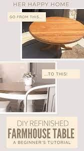 diy refinished farmhouse table
