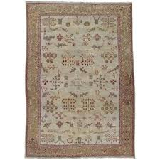 antique persian sultanabad carpet handmade oriental rug ivory gold green for