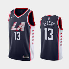 George City Paul Los Navy Jersey Angeles Clippers