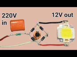 <b>220v to 12v</b> without transformer - YouTube