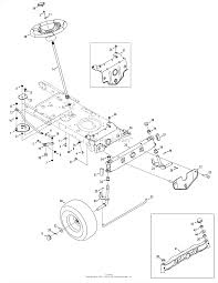 Troy bilt 13an77kg011 pony 2008 parts diagram for steering front