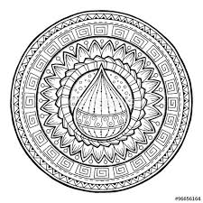 Water Drop Coloring Page Doodle Water Drop On Tribal Mandala By Juliasnegi On Fotolia