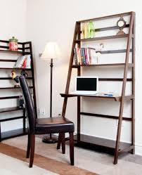furniture fancy leaning bookcase for your book organizer idea inside leaning wall desk with shelves
