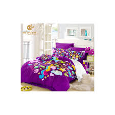 unicorn bedding set purple duvet cover queen for children king size bedding set colorful home textile kids bed linen 25 size us full color as44