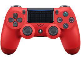 Controle para PS4 Sem Fio Dualshock 4 Sony - Vermelho - Controles PS4 /  Dualshock 4 - Magazine Luiza