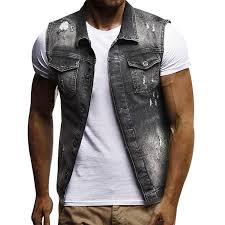fashion vintage design men denim vest male slim fit sleeveless jackets men jeans waistcoat spring jacket biker leather jacket from tayler 54 59 dhgate