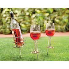 outdoor wine bottle holder