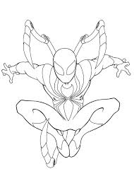 Coloring Pages For Spiderman Coloring Page Spider Man Homecoming