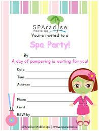 Spa Party Printables Nice Spa Day Invite Template Invitation