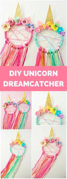 diy unicorn dreamcatche tutorial