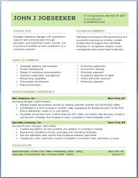 Professional Resume Template Word 2010 | Nfcnbarroom.com