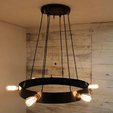 cley metal finished steel circular chandelier