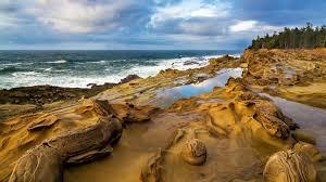 stone beach sea waves ocean wallpapers