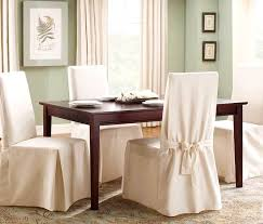 endearing outstanding room white chair slipcovers arms sure fit natural cotton duck long dining room chair