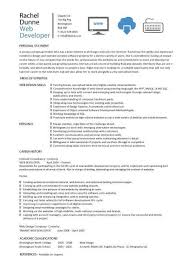 Gallery Of Web Developer Resume Example Cv Designer Template