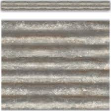 tcr3428 corrugated metal straight border trim image