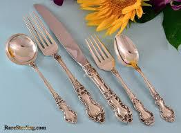 wallace meadow rose sterling silver flatware