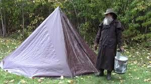 Tarp Teepee Design Turn Your Tarp Tent Into A Hot Tent Stove Installation