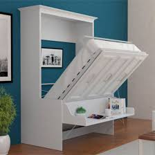 this unique one includes a floating shelf that you can keep your office supplies on while the bed is still in use murphybed