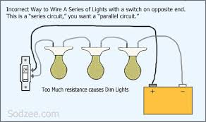 simple home electrical wiring diagrams sodzee com Light Switch Electrical Wiring Diagram wiring a series circuit of lights (bad) electrical wiring light switch diagrams