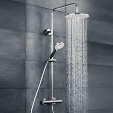 Duschsystem Hsk Rs 100 Thermostat Mit Kopfbrause Regendusche