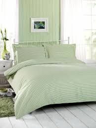 check green percale single duvet quilt cover set with oxford pillowcase hak textiles
