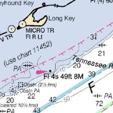 Noaa Chart 11452 3d Florida Keys Deep Strikelines Fishing Charts