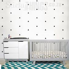 the mini triangle wall pattern stickers are small triangle decals that fill a whole wall on nursery vinyl wall art cape town with mini triangle wall pattern stickers from stickythings za