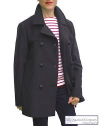 women s breton pea coat jacket