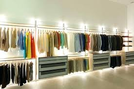 led closet lighting ideas with some rods opened shelves and drawers rod sold by winona