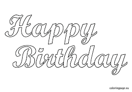 Coloring Pages Happy Birthday Coloring Pages Printable Free