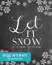 Chalkboard Designs For Winter Amazon Com Let It Snow Typography Poster Faux Chalkboard