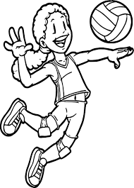 Small Picture Kids Playing Sports Volleyball Coloring Page Wecoloringpage