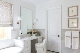 Lovely ... Bathroom With Gray Half Tiled Walls View Full Size