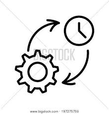 Thin Line Time Vector Photo Free Trial Bigstock