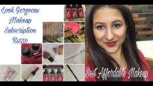 new makeup subscription box india by look gorgeous best affordable makeup subscription box india