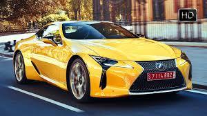 2018 lexus colors. fine colors 2018 lexus lc 500 coupe road driving scenes color yellow u0026 caviar hd and lexus colors