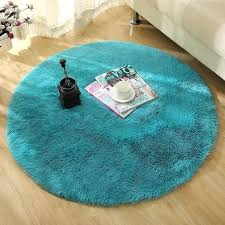 modern round rugs solid color faux fur white plush fluffy round carpet for living room bedroom