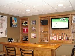 Rustic Style Home Basement Bar After Remodel Design With Furnish