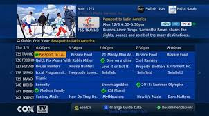 tv guide. on-screen tv guide example tv