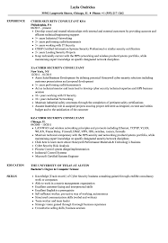 Consultant Cyber Security Resume Samples Velvet Jobs