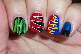 Nascar Nail Art Designs Amber Did It Nascar Nails