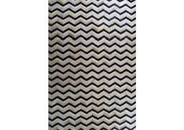 modern cowhide area rug 5045 white sand black