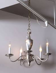 tradition silver plate chandelier with five arms england circa 1920 rewired for u s