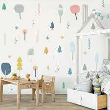 creative fairy tale forest cartoon wall