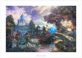 1800 x 1500 jpeg 918 кб. Wallpaper Thomas Kinkade Disney Cinderella