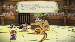 New Paper Mario Color Splash Footage Shows Iggy Koopa Boss Battle